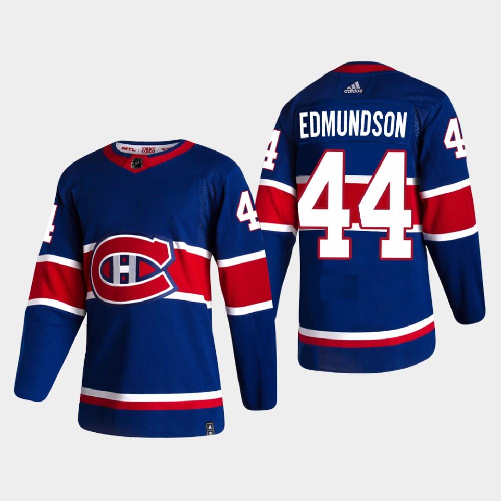 Men's Jersey Blue Reverse Retro Montreal Canadiens Joel Edmundson
