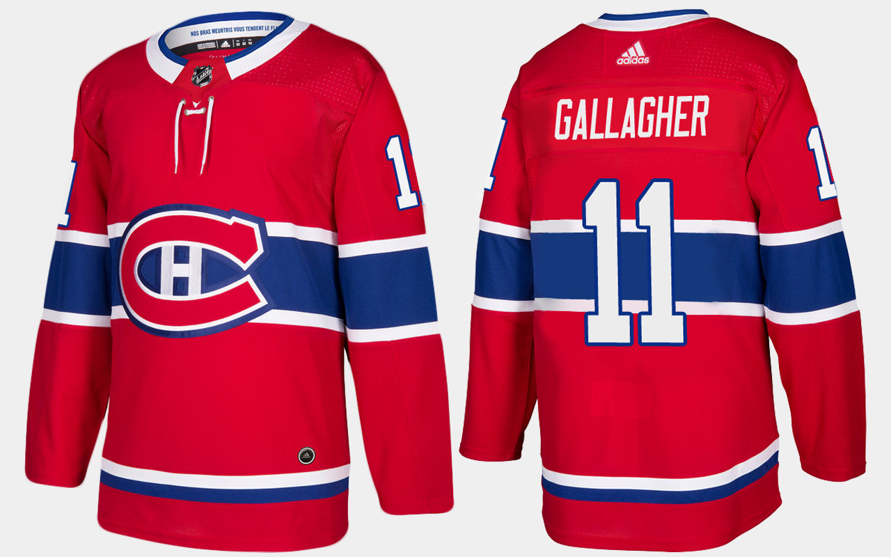 Men's Jersey Red Home Montreal Canadiens Brendan Gallagher