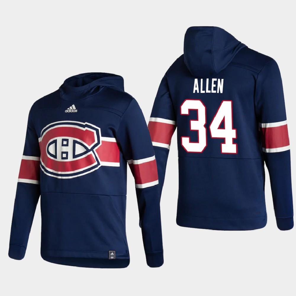 Men's Reverse Retro Navy Jake Allen Montreal Canadiens Hoodie