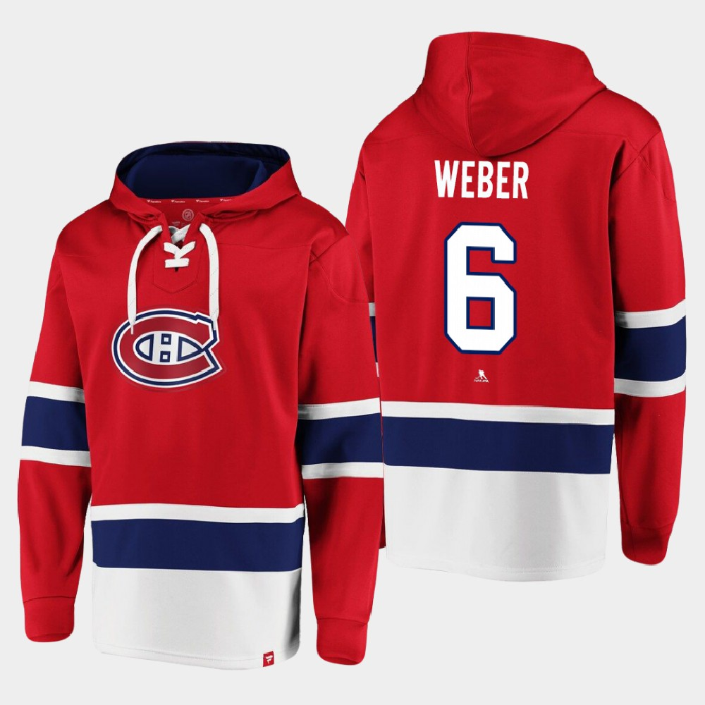 Men's Red Montreal Canadiens Shea Weber Hoodie Dasher Player