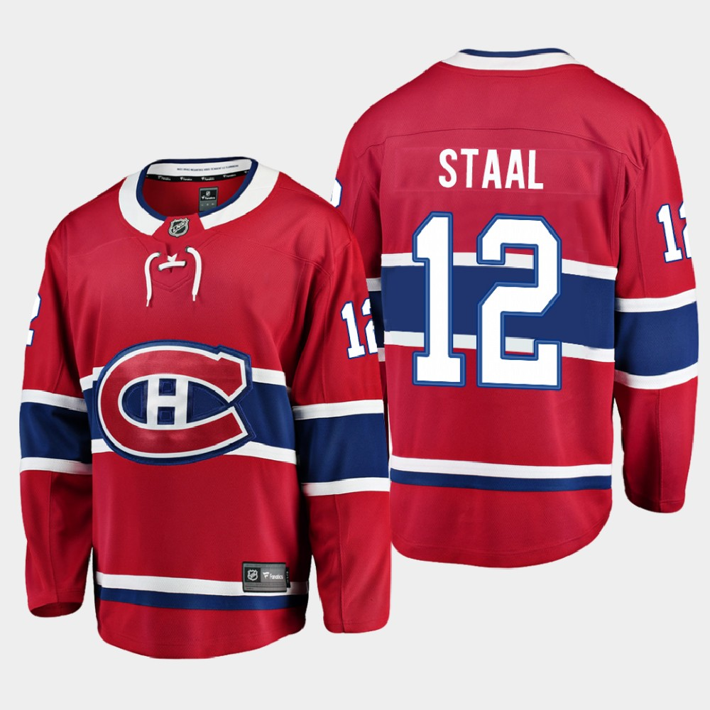 Men's Jersey Red Home Montreal Canadiens Eric Staal