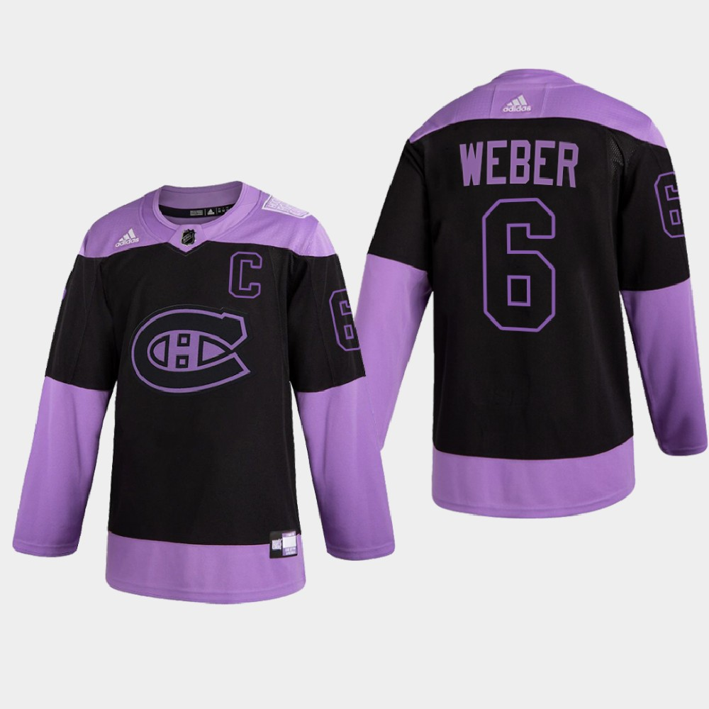 Men's Jersey Montreal Canadiens Purple 2021 Hockey Fights Cancer Night Shea Weber