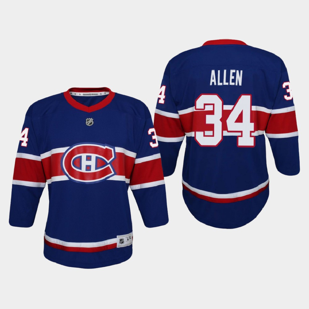 Jersey Reverse Retro Jake Allen Youth Montreal Canadiens Royal