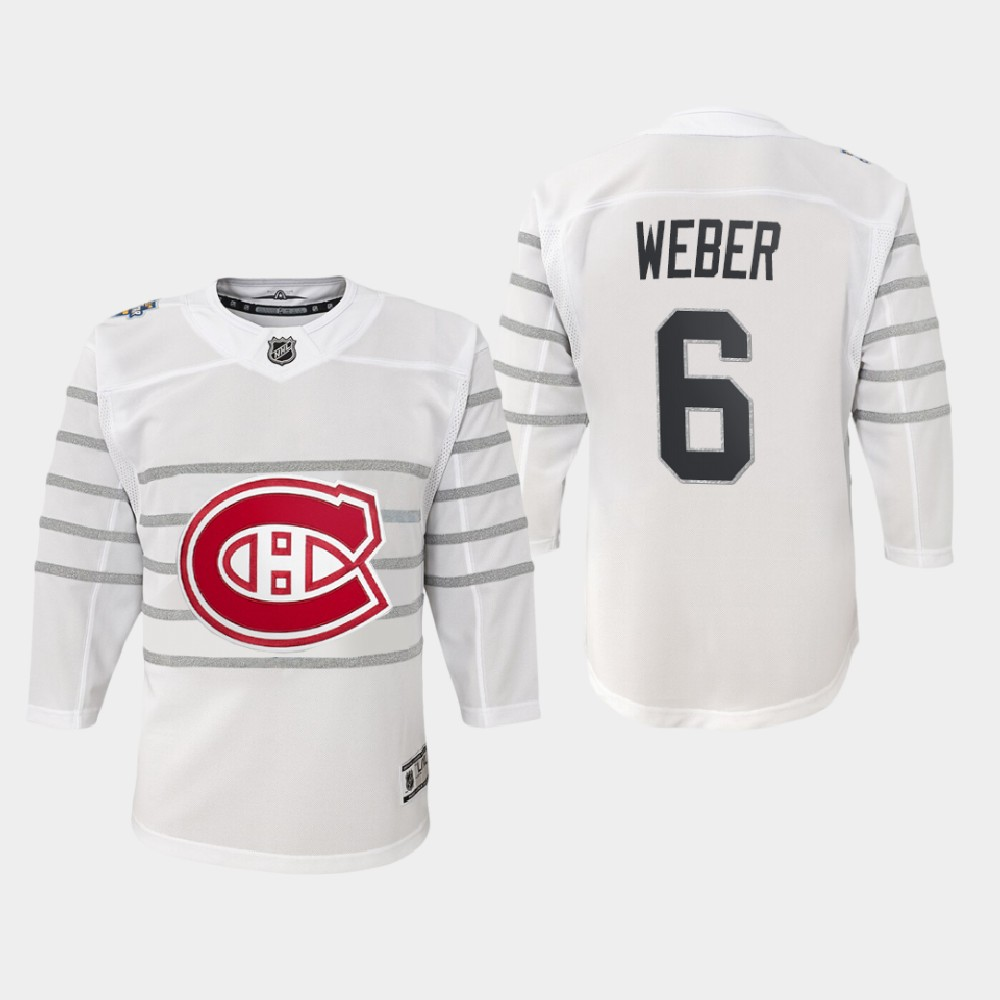 White Jersey Youth Montreal Canadiens Shea Weber 2020 NHL All-Star Game