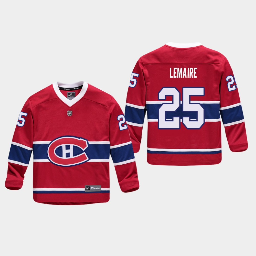 Jersey Red Home Youth Montreal Canadiens Jacques Lemaire