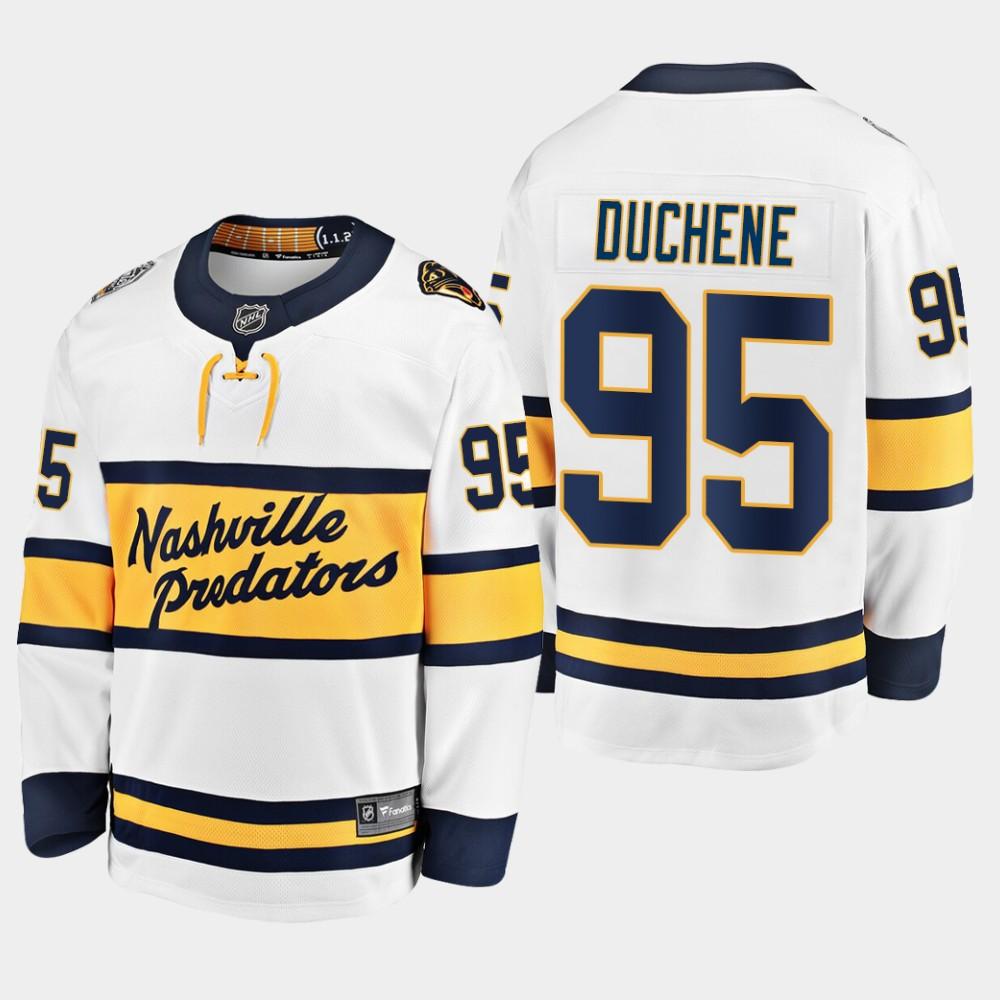 White Men's Jersey Nashville Predators Matt Duchene 2020 Winter Classic