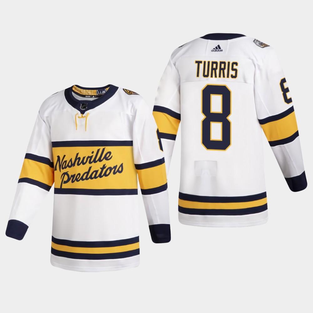 White Men's Jersey Nashville Predators Kyle Turris 2020 Winter Classic