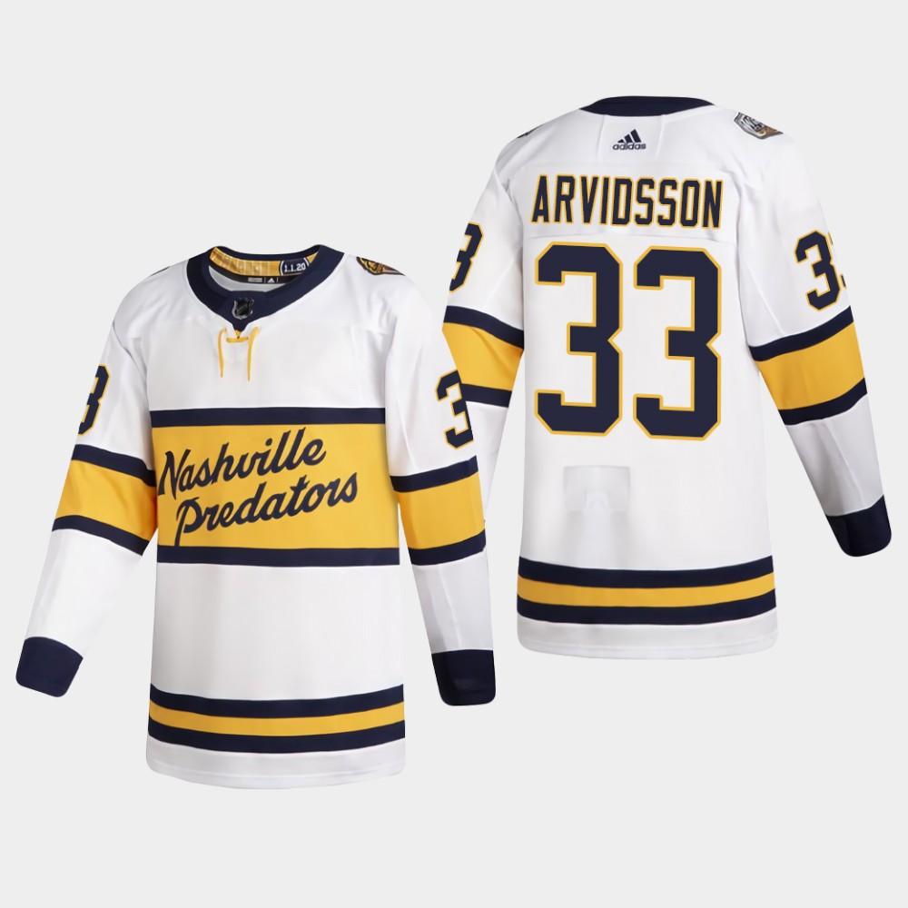 White Men's Jersey Nashville Predators Viktor Arvidsson 2020 Winter Classic