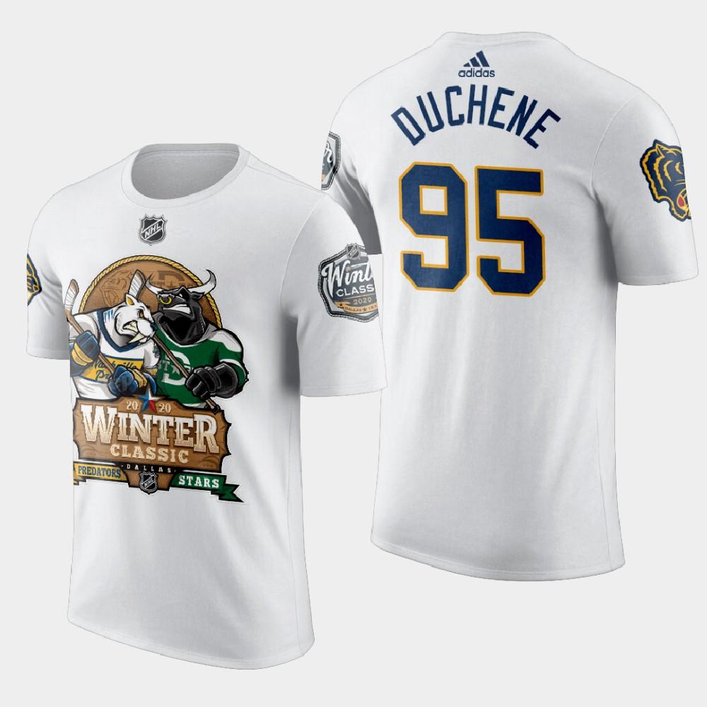 White Men's Nashville Predators Matt Duchene 2020 Winter Classic T-Shirt
