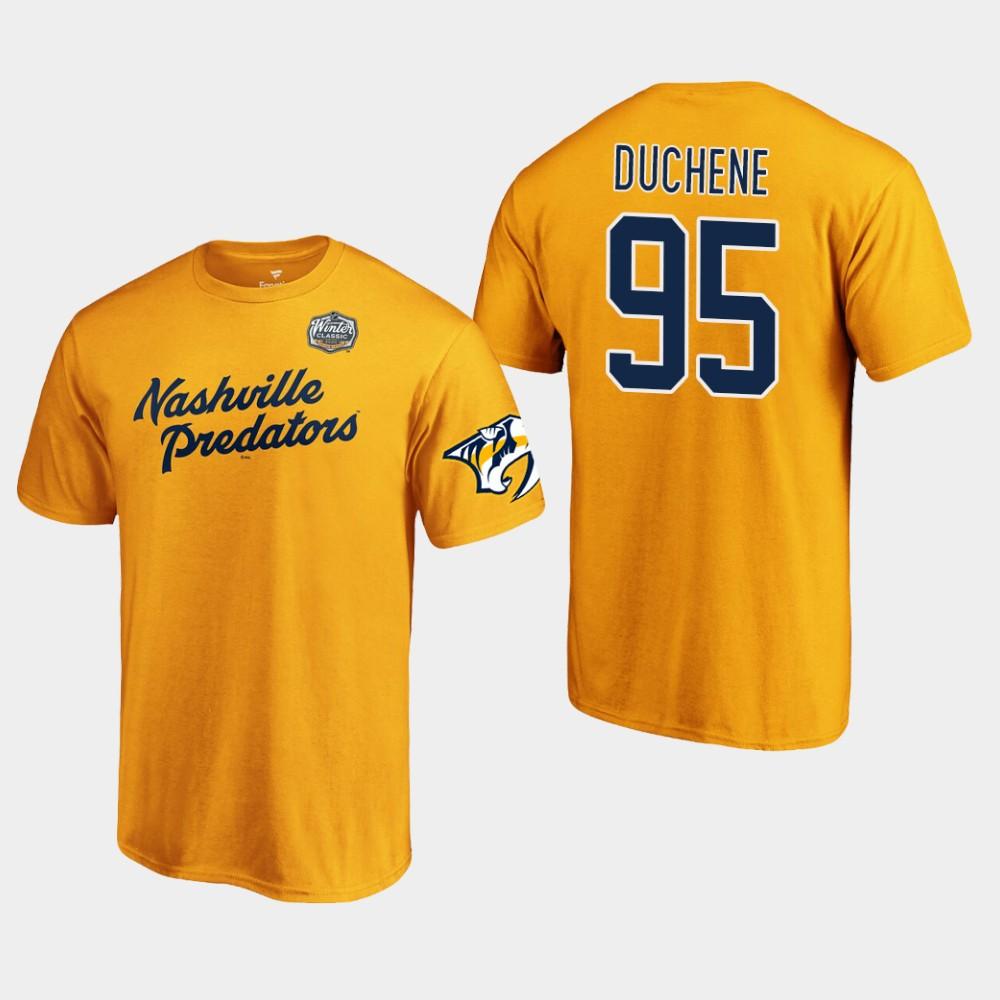 Men's Gold Nashville Predators Matt Duchene 2020 Winter Classic T-Shirt