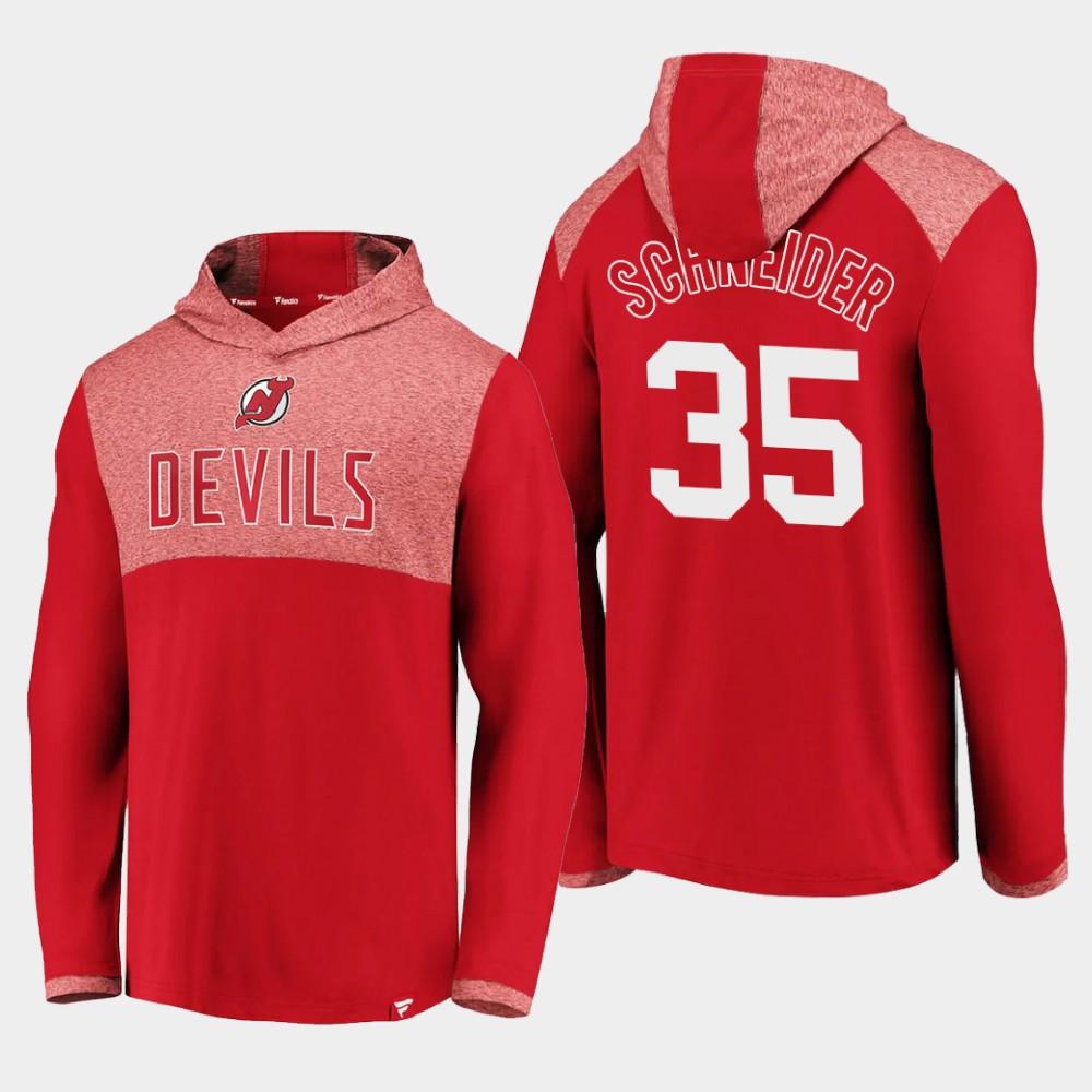 Men's New Jersey Devils Red Cory Schneider Hoodie Iconic Marbled Clutch