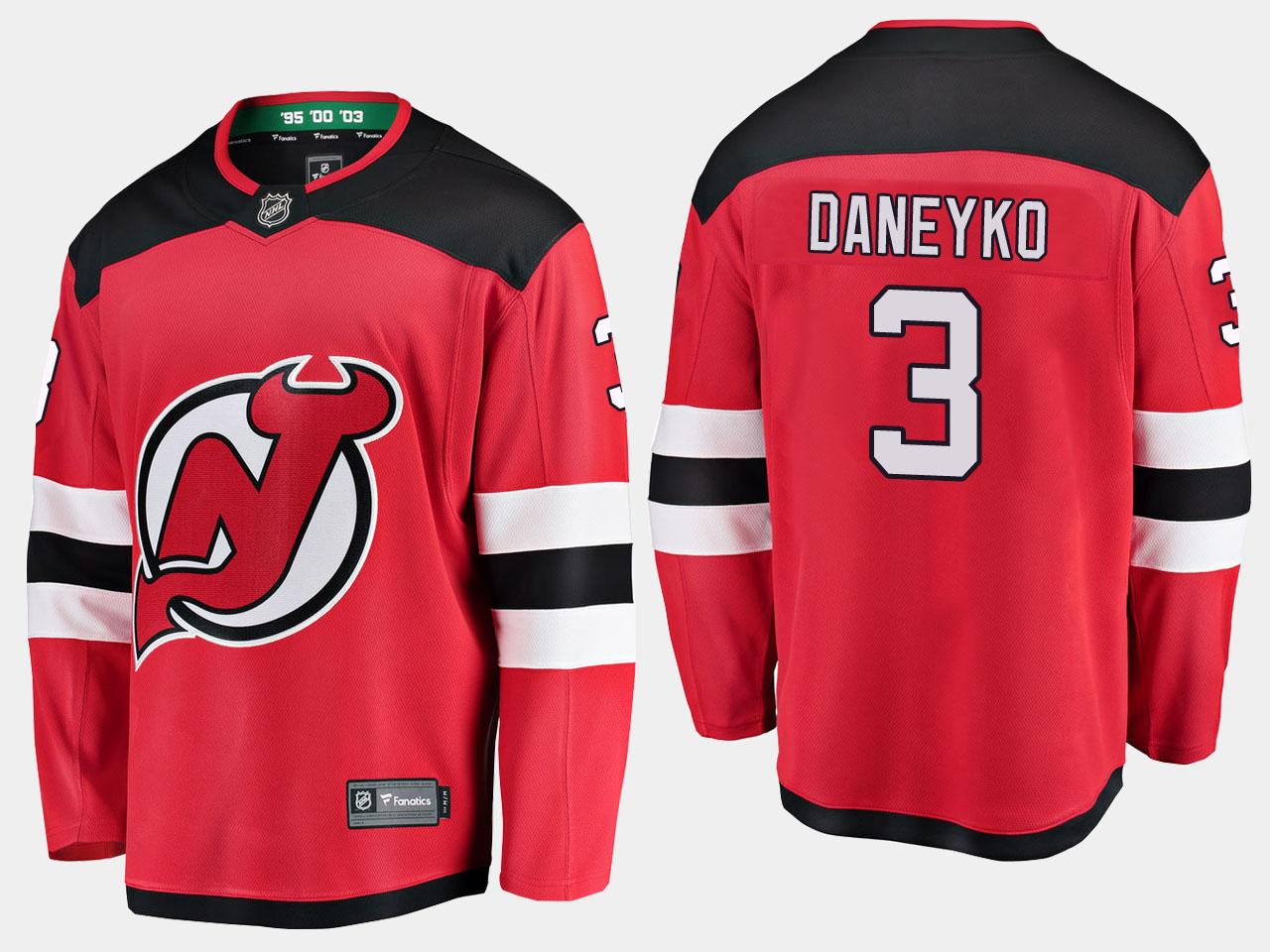 Men's Jersey New Jersey Devils Red Home Ken Daneyko