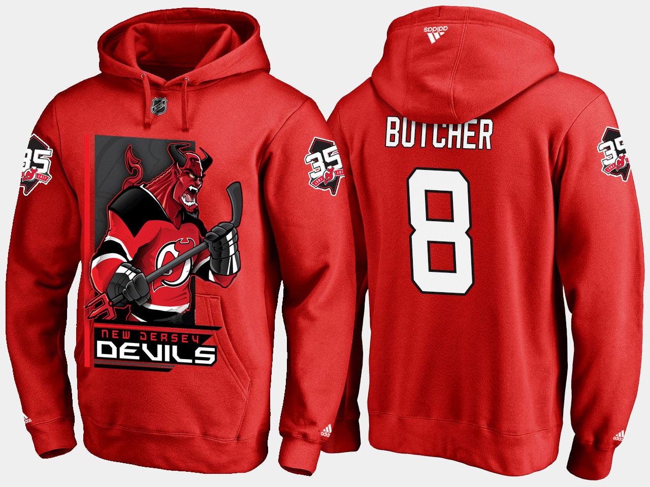 Men's New Jersey Devils Red Will Butcher Cartoon Hoodie