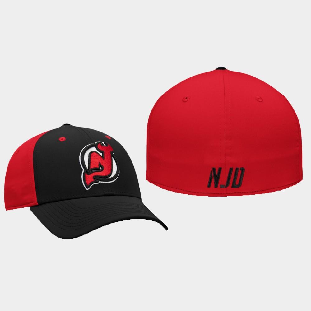 Men's New Jersey Devils Hat Iconic Black Red