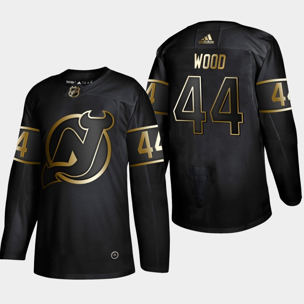 Men's Jersey New Jersey Devils Black NHL Golden Edition Miles Wood
