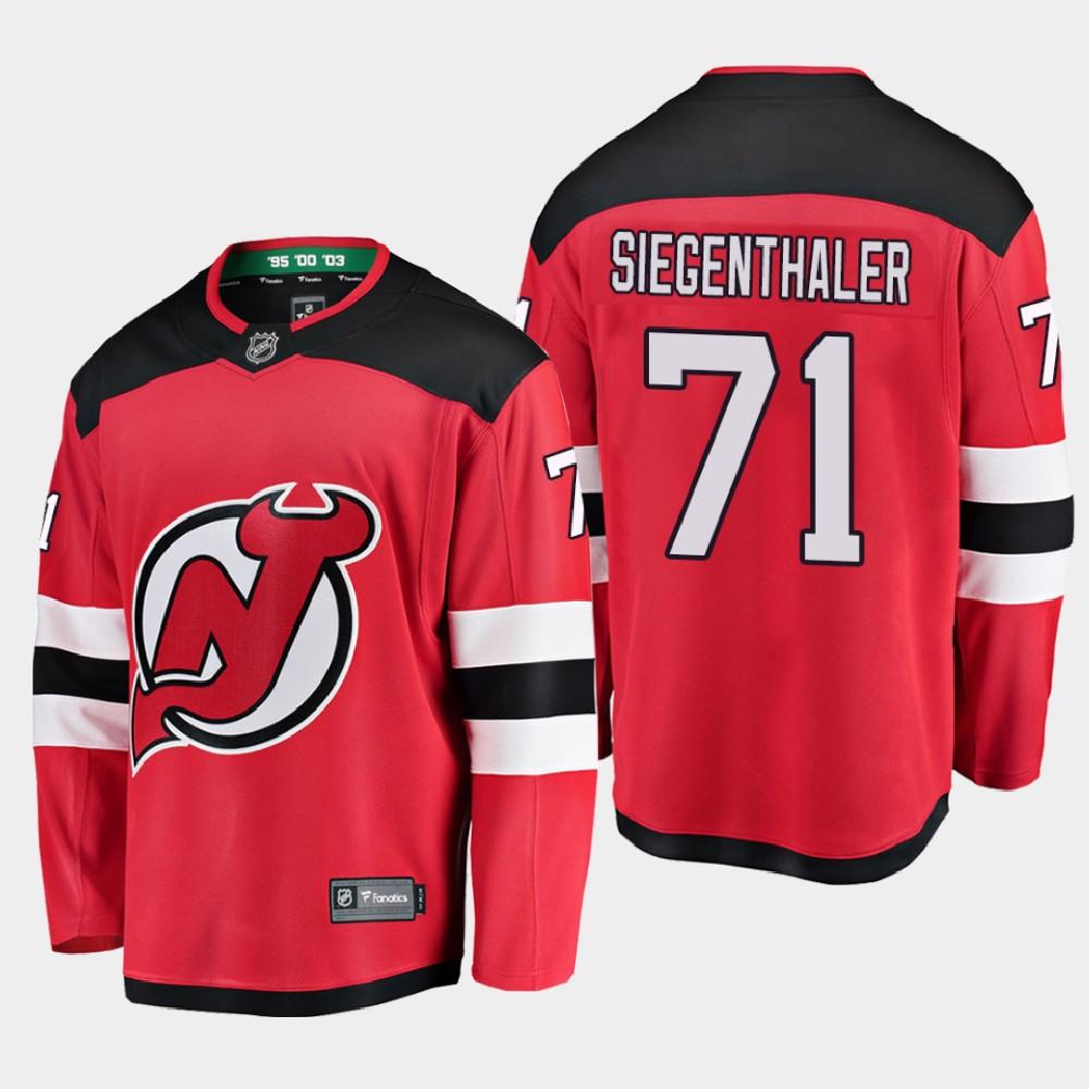 Men's Jersey New Jersey Devils Red Home Jonas Siegenthaler