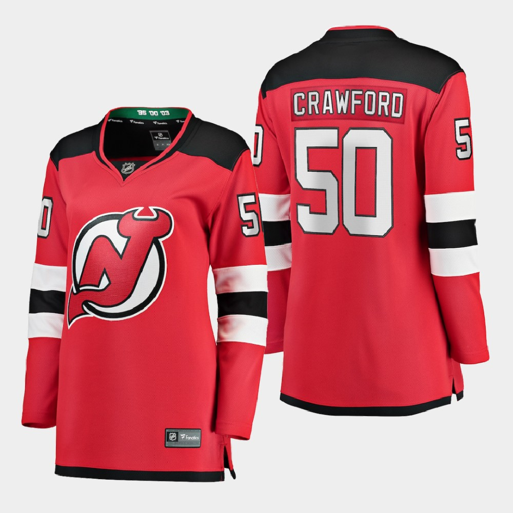 Jersey New Jersey Devils Red Home Women's Corey Crawford
