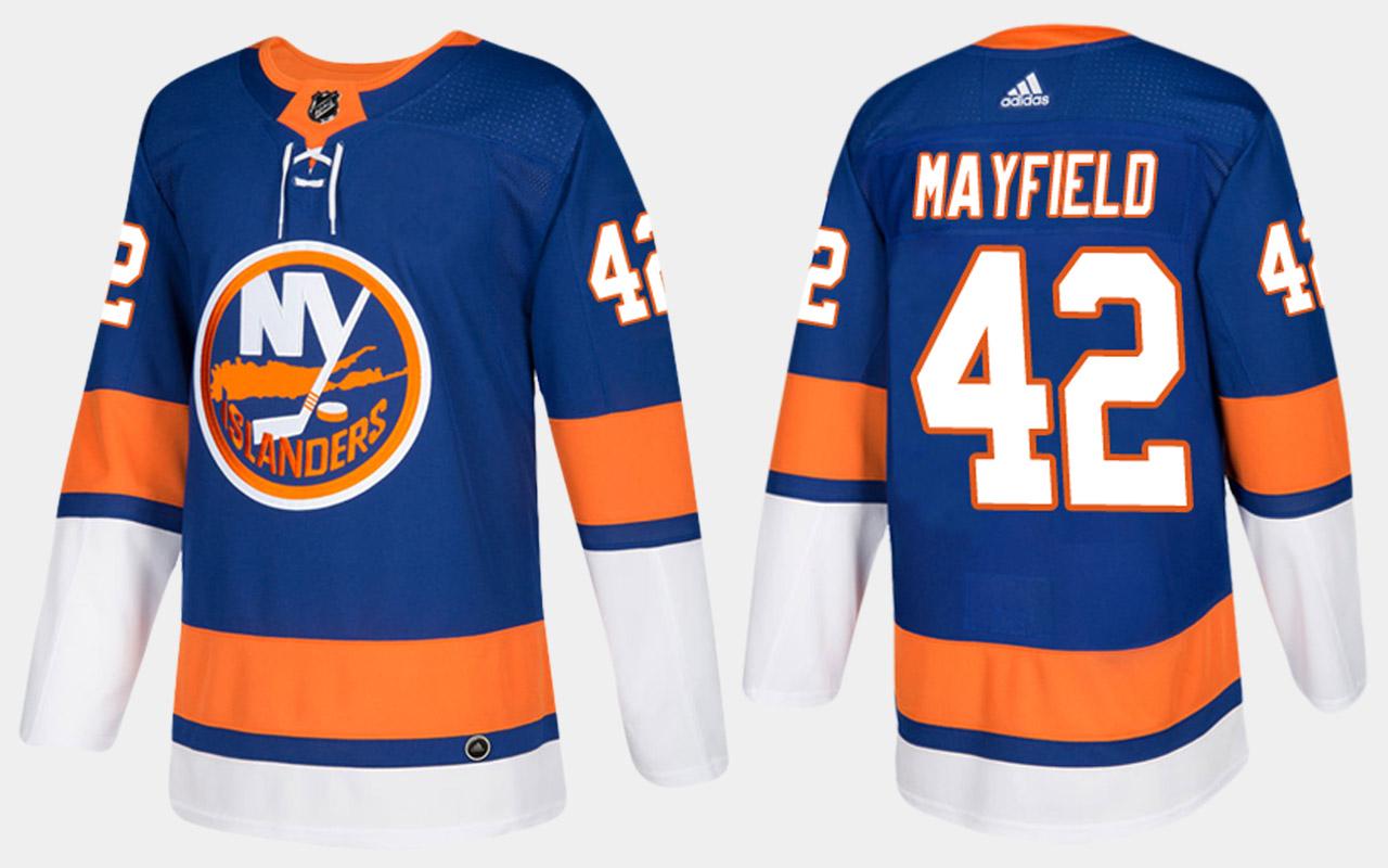 Men's Jersey Blue Home New York Islanders Scott Mayfield