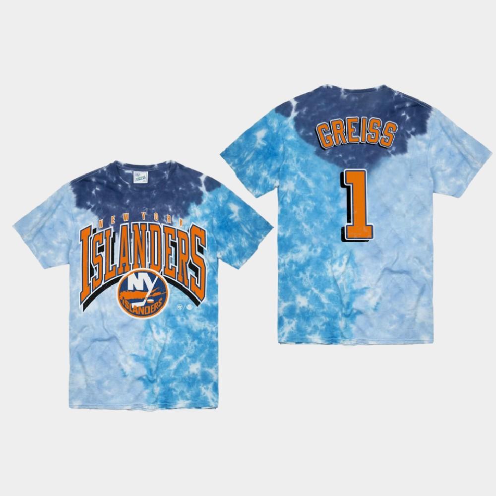 Men's Blue New York Islanders Thomas Greiss T-Shirt Vintage Tubular