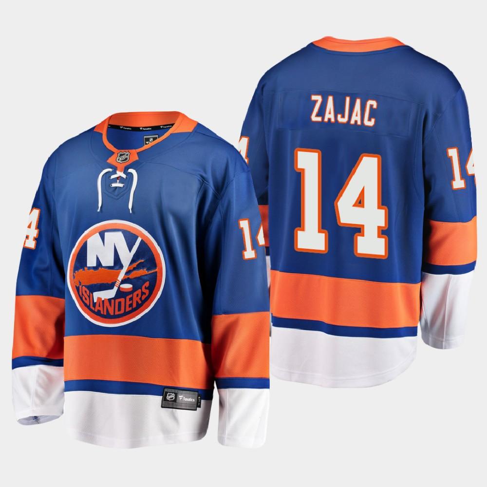 Men's Jersey Blue Home New York Islanders Travis Zajac