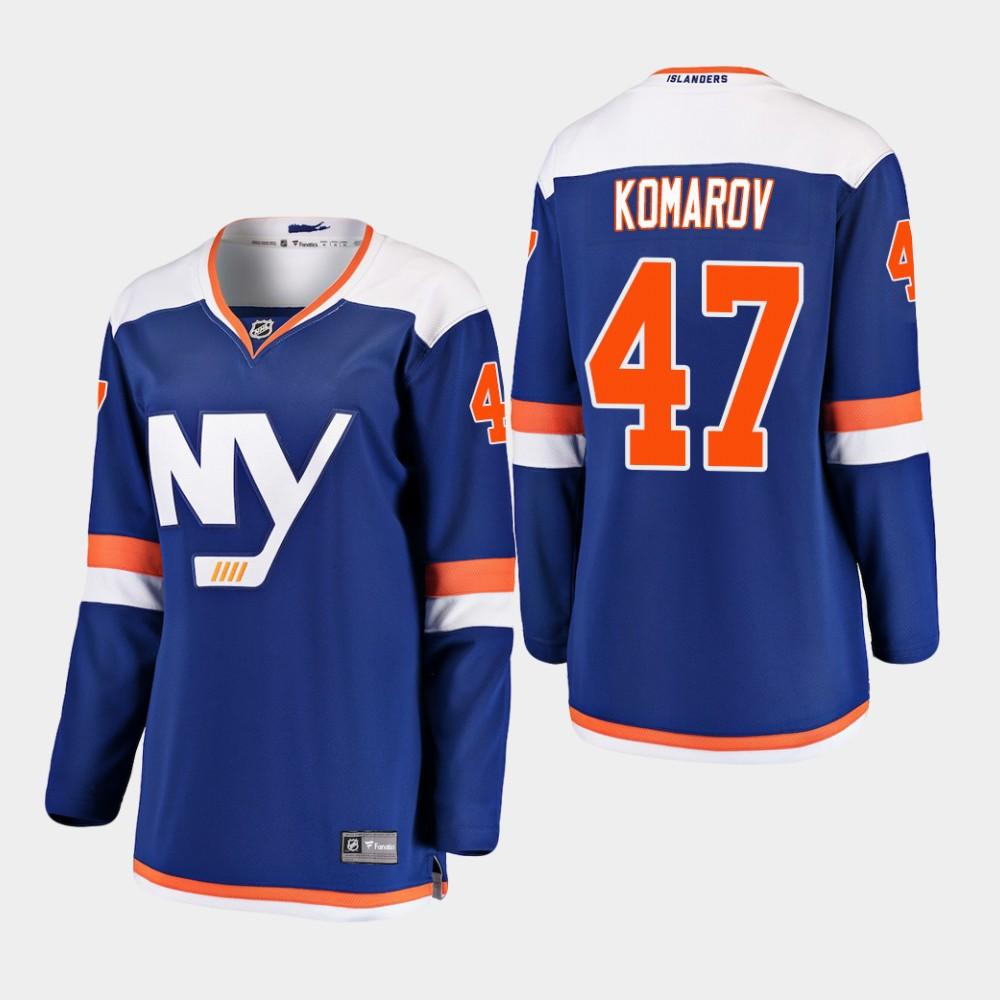 Jersey Blue Alternate Women's New York Islanders Leo Komarov