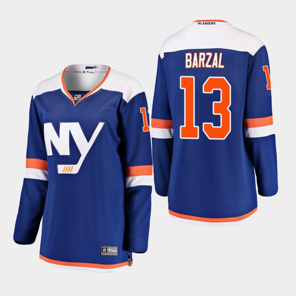 Jersey Blue Alternate Women's New York Islanders Mathew Barzal