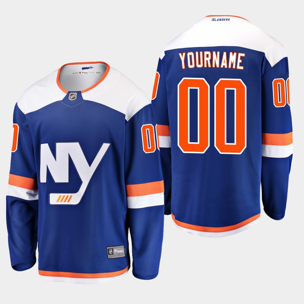Jersey Blue Custom Alternate Youth New York Islanders