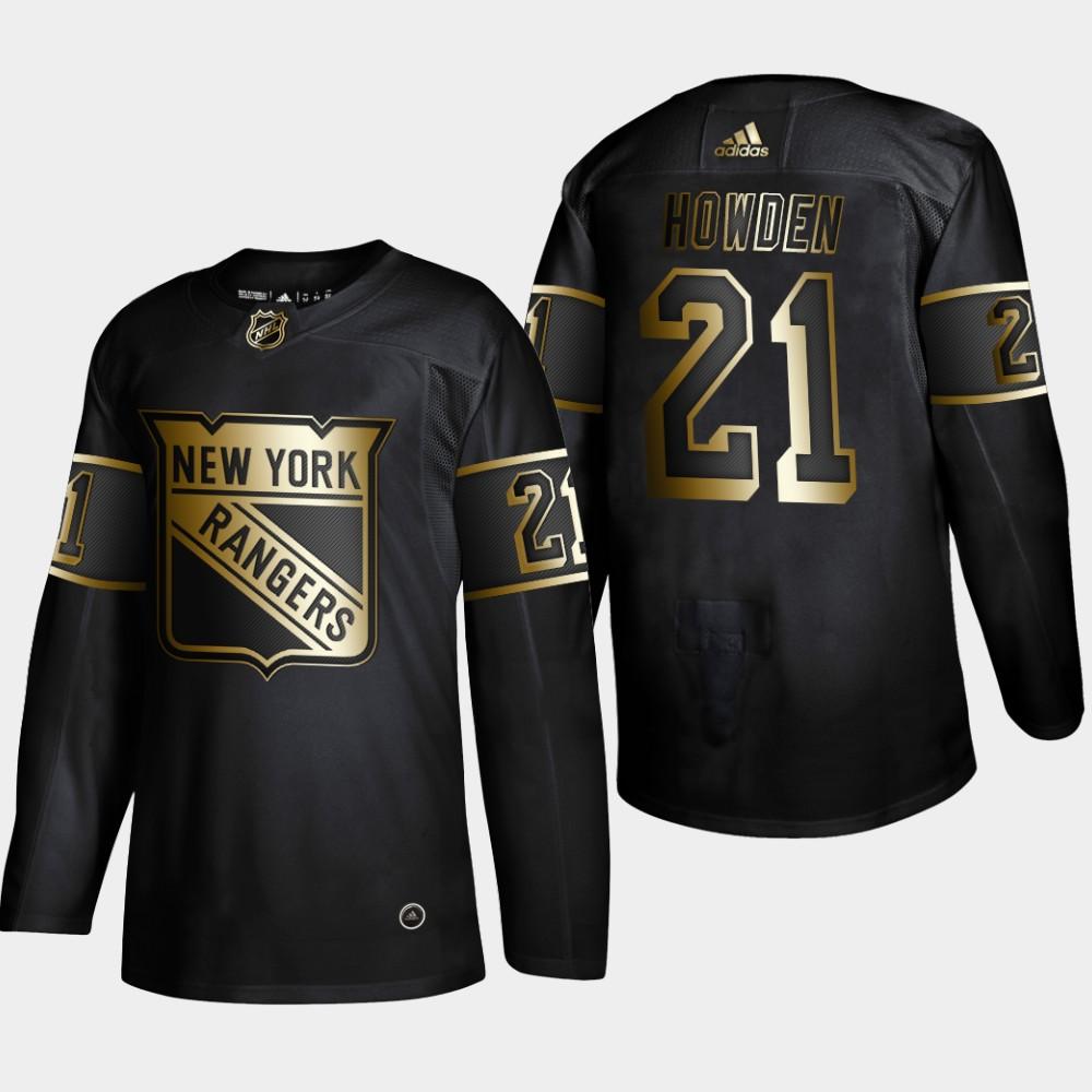 Men's Jersey Black NHL Golden Edition New York Rangers Brett Howden