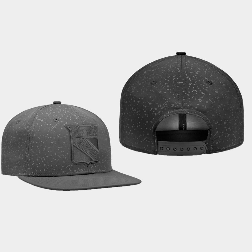 Men's Black New York Rangers Hat Lunar