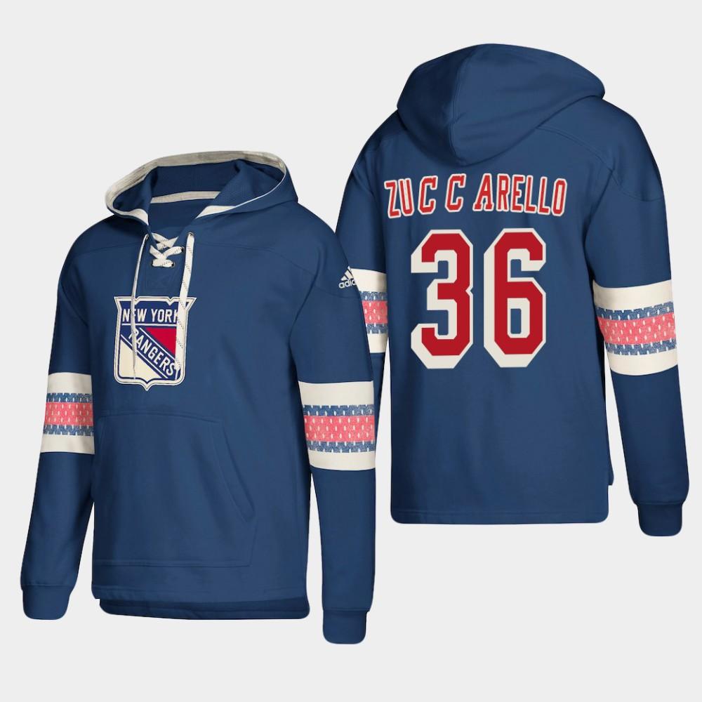 Men's Blue New York Rangers Mats Zuccarello Hoodie Pullover