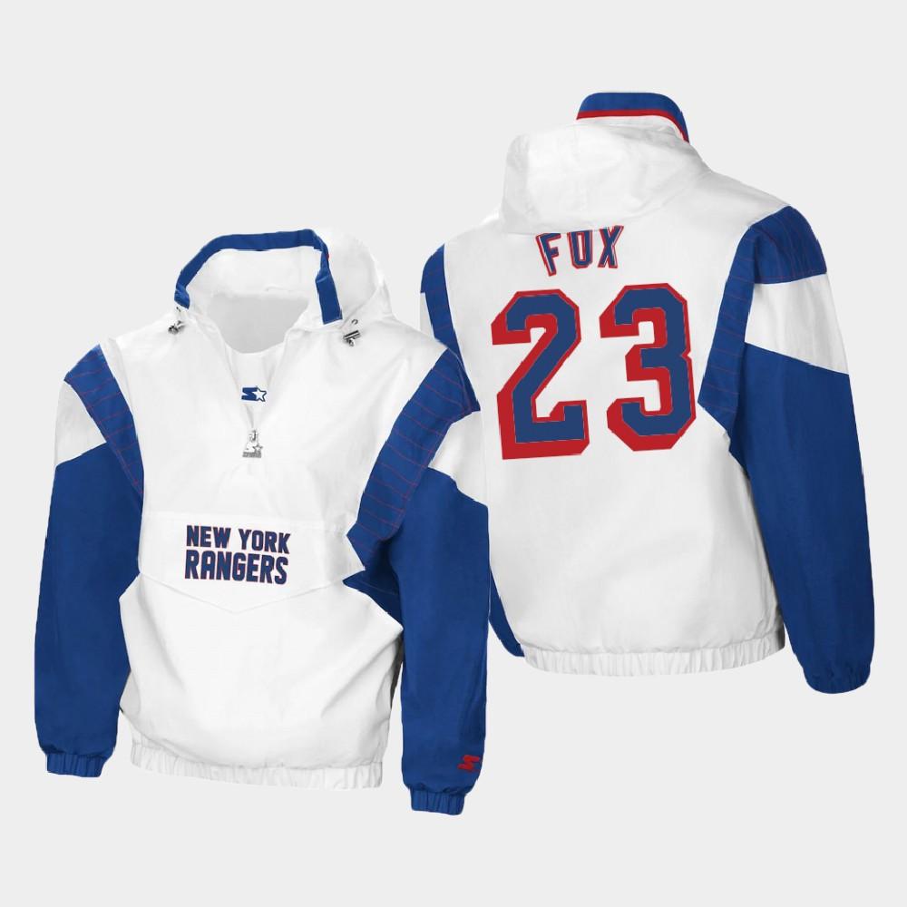 White Men's New York Rangers Adam Fox Spring Trainer Jacket