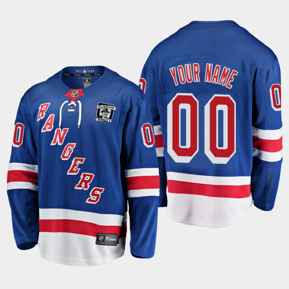 Men's Jersey Blue New York Rangers MLK Jr. Day