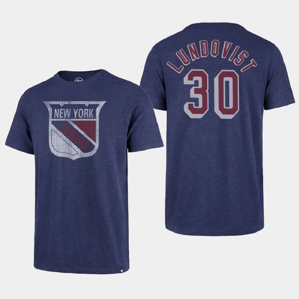 Men's New York Rangers Purple Henrik Lundqvist T-Shirt Heritage Classic
