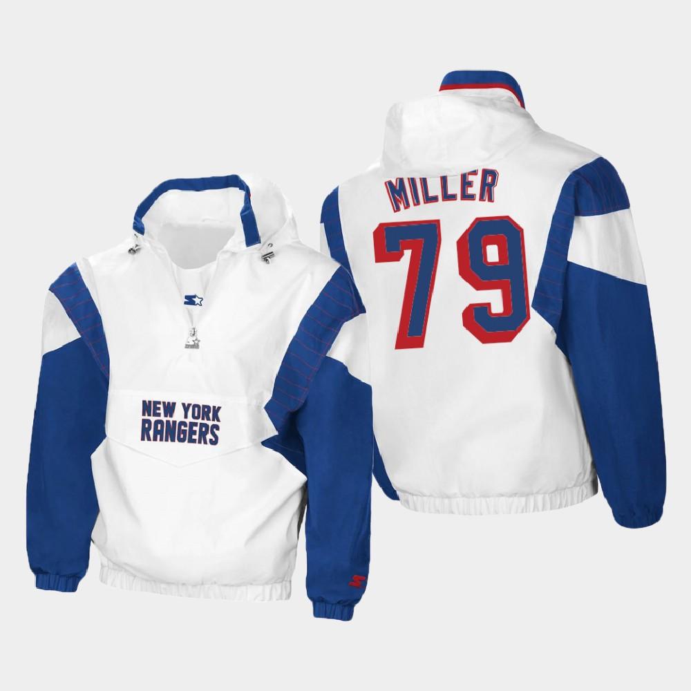 White Men's New York Rangers K'Andre Miller Spring Trainer Jacket