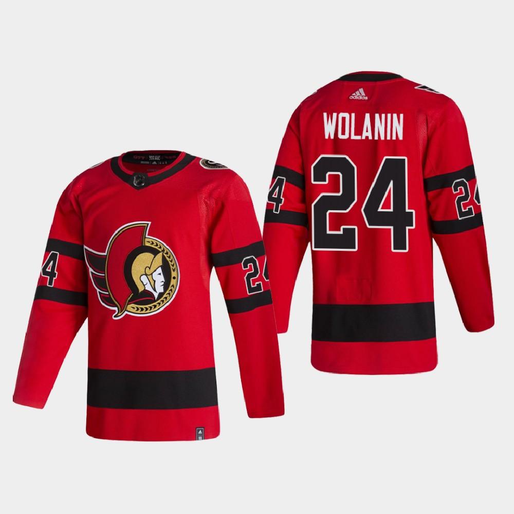 Men's Jersey Reverse Retro Red Christian Wolanin Ottawa Senators