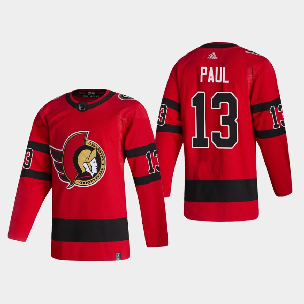 Men's Jersey Reverse Retro Red Ottawa Senators Nick Paul