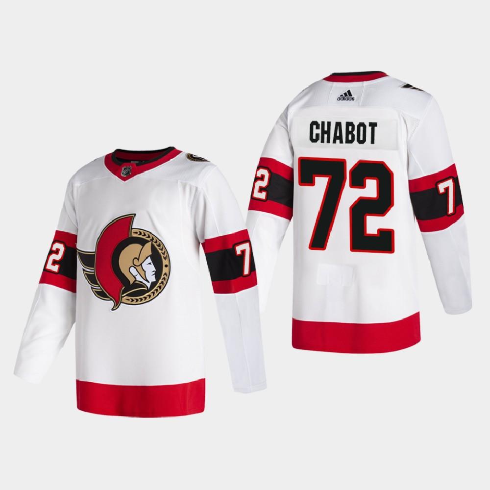 White Men's Jersey Away Ottawa Senators Thomas Chabot
