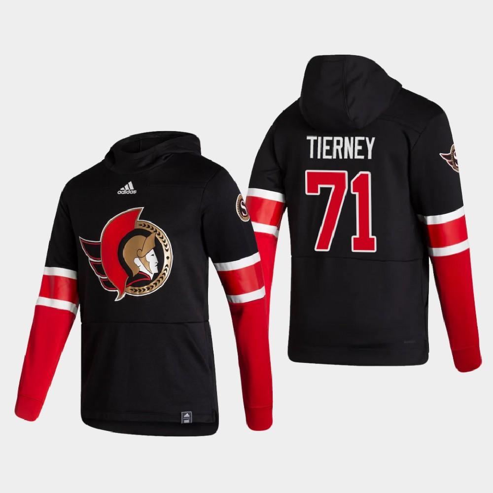 Men's Reverse Retro Black Chris Tierney Ottawa Senators Hoodie