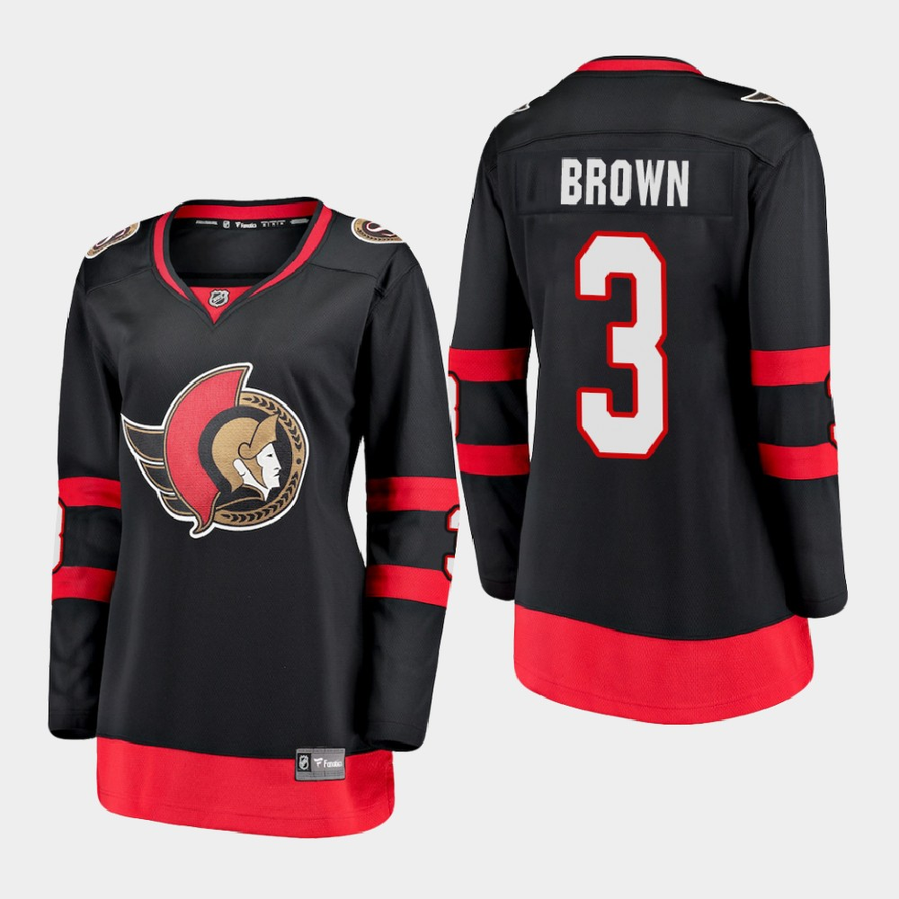 Jersey Home Black Women's Ottawa Senators Josh Brown
