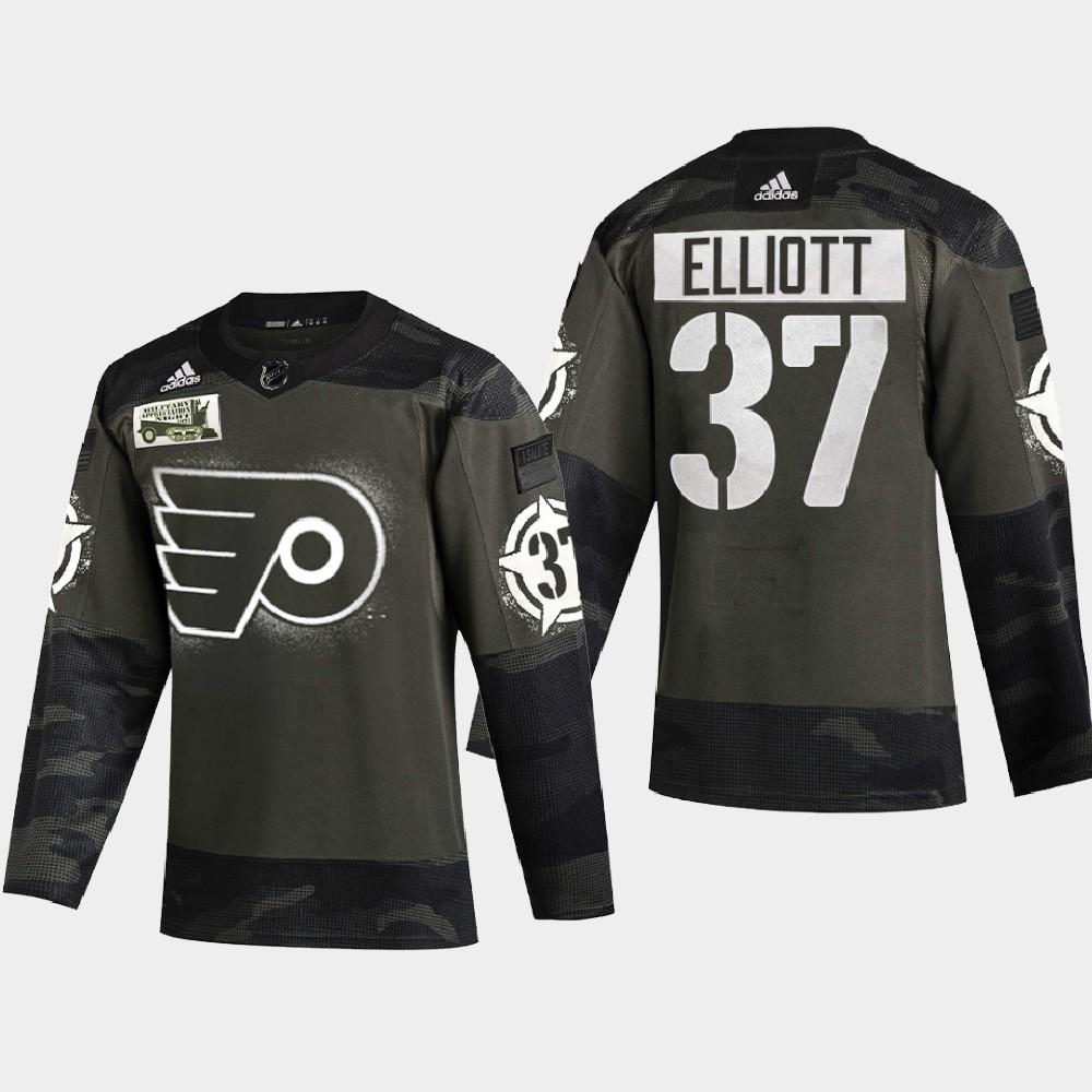 Men's Jersey Philadelphia Flyers Camo 2021 Military Appreciation Night Brian Elliott