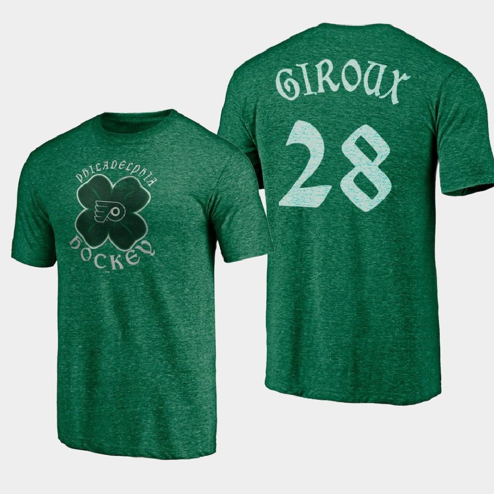 Men's Philadelphia Flyers Claude Giroux St. Patrick's Day Kelly Green T-Shirt