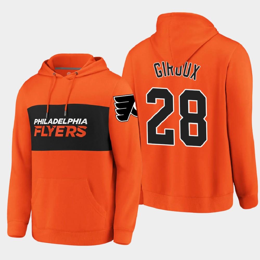 Men's Philadelphia Flyers Orange Claude Giroux Hoodie Classics