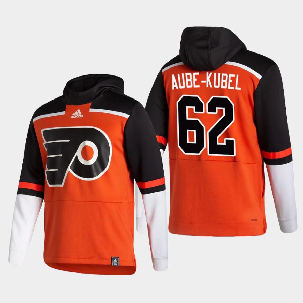 Men's Reverse Retro Philadelphia Flyers Orange Nicolas Aube-Kubel Hoodie