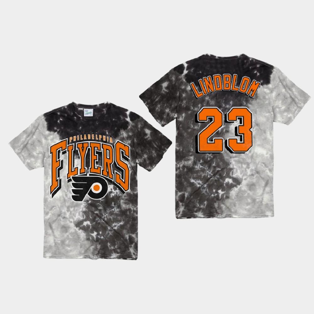 Men's Black Philadelphia Flyers Oskar Lindblom T-Shirt Vintage Tubular