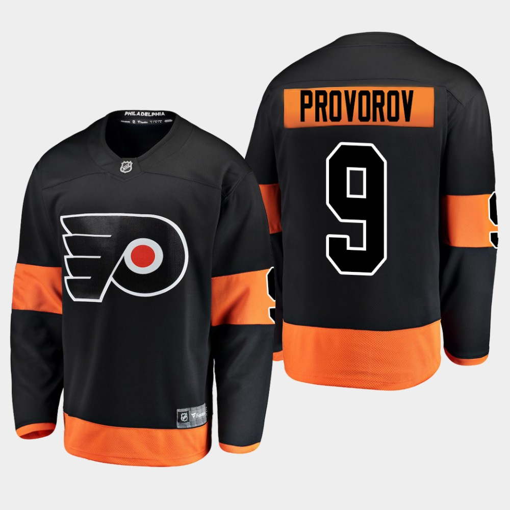 Men's Jersey Black Alternate Philadelphia Flyers Ivan Provorov