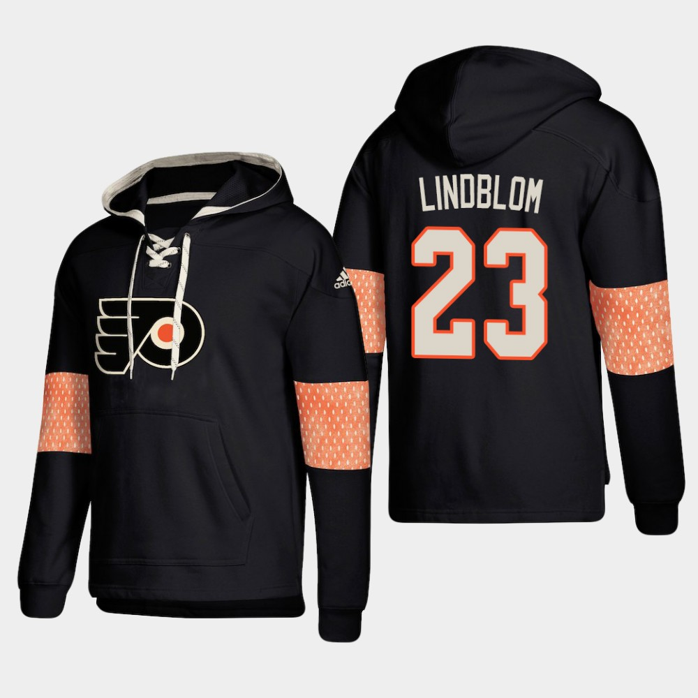 Men's Black Philadelphia Flyers Oskar Lindblom Hoodie Pullover
