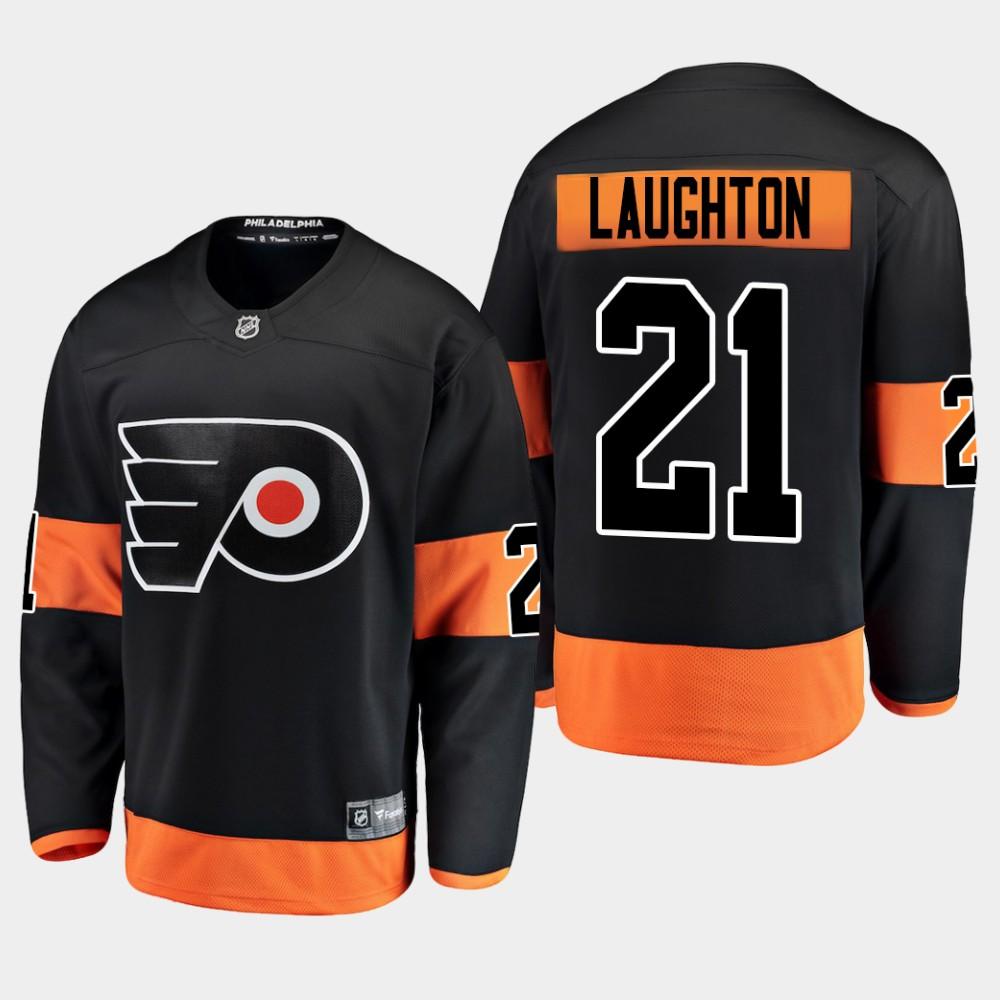 Men's Jersey Black Alternate Philadelphia Flyers Scott Laughton
