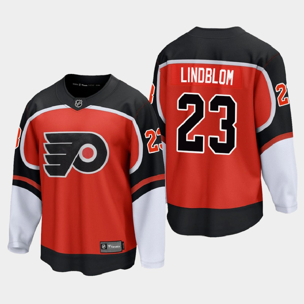 Men's Jersey Reverse Retro Philadelphia Flyers Orange Oskar Lindblom