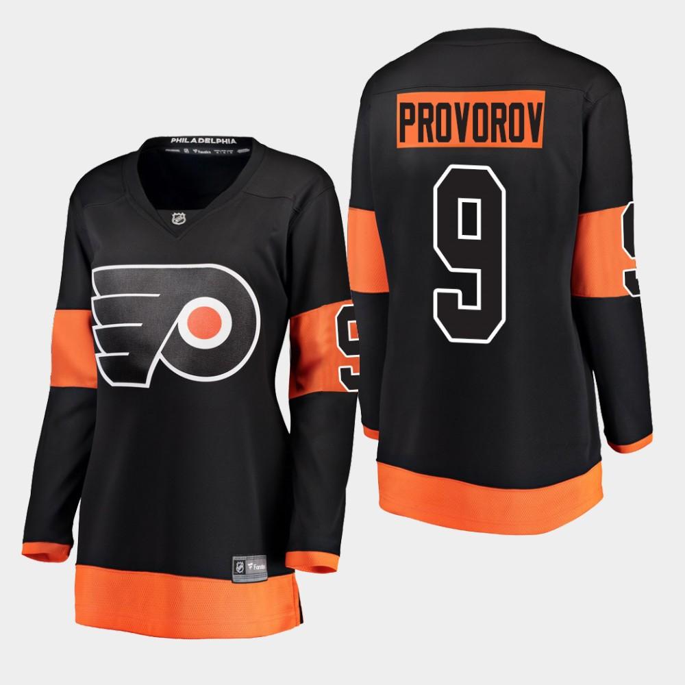 Jersey Black Alternate Women's Philadelphia Flyers Ivan Provorov