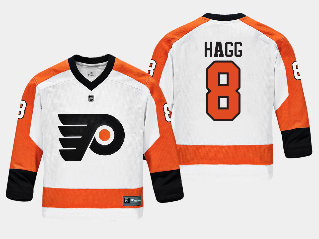 White Jersey Youth Philadelphia Flyers Robert Hagg Road